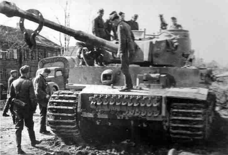 German tiger tank in the Battle of Leningrad