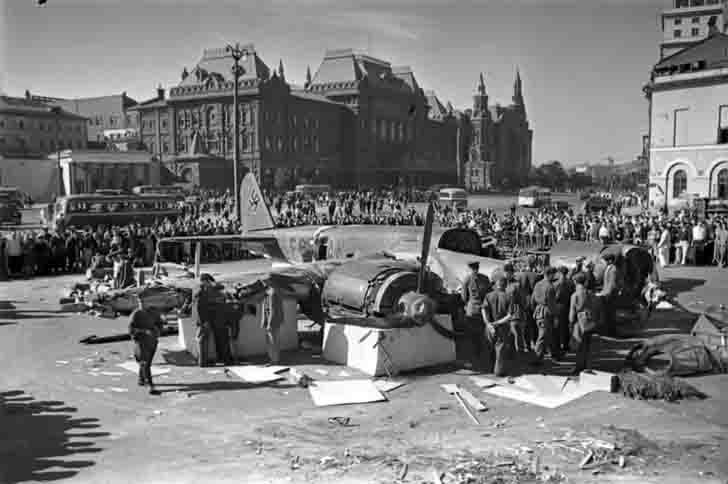 German Ju-88 aircraft shot down in the Battle of Moscow