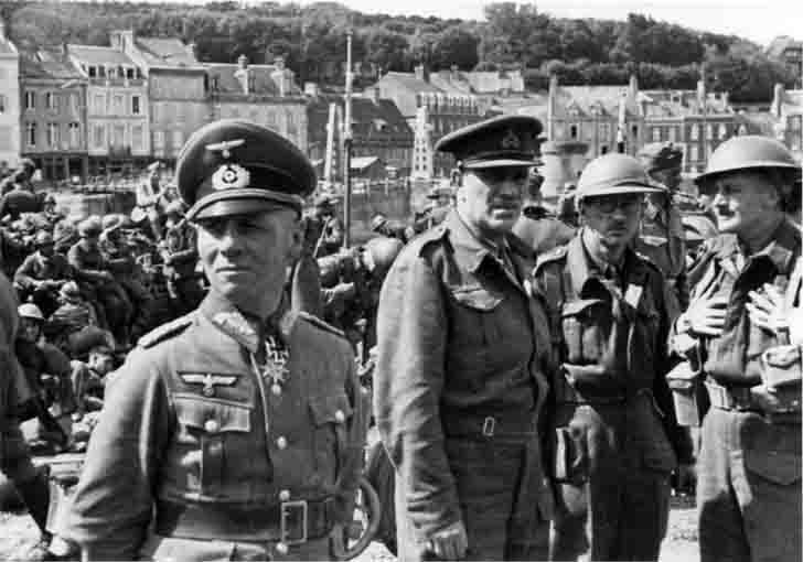 Erwin Rommel and the prisoner Major-General Sir Victor Morven Fortune