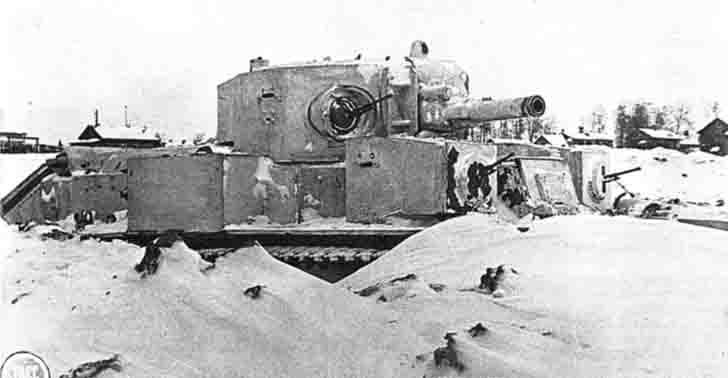 T28 russian tank in the defense of Leningrad