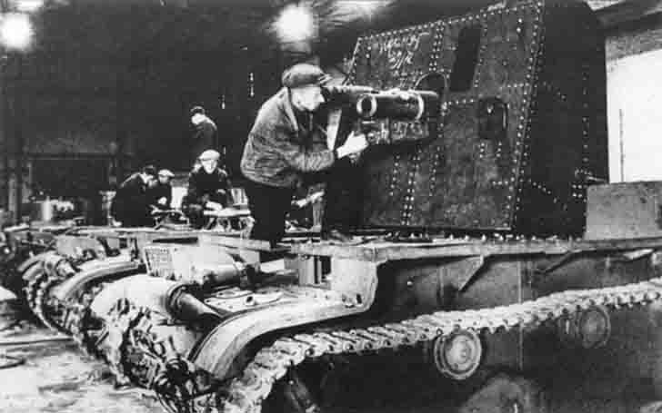 Russian self propelled artillery on the chassis of the T-26