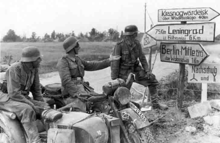 German motorcyclists