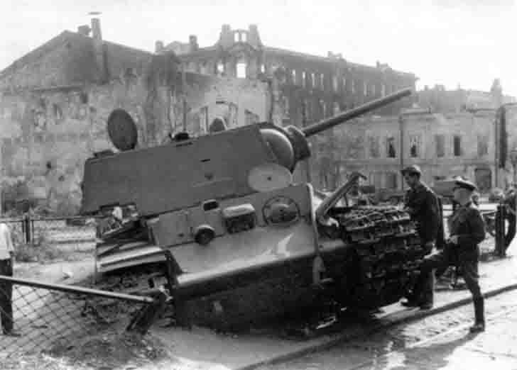 Scrapped KV-1 heavy tank in Rostov-on-Don