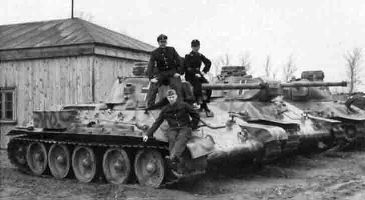 T-34 medium tanks in the Nazi Wehrmacht