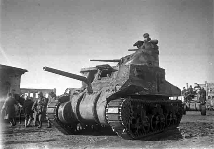 "M3 ""General Lee"" medium tank in the Battle of Vyazma"