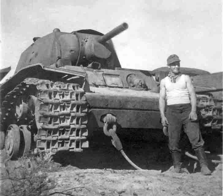 Captured Soviet KV-1 heavy tank