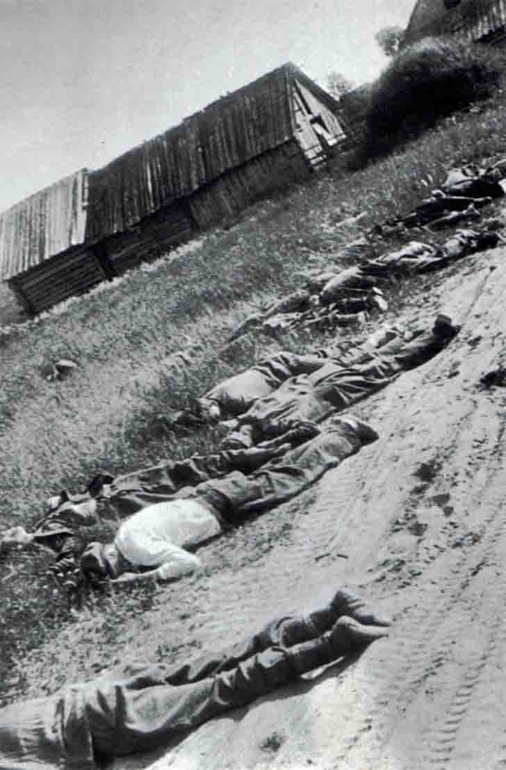 Peaceful Soviet citizens killed by Nazis