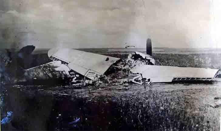 Downed German Messerschmitt-Bf.109 fighter