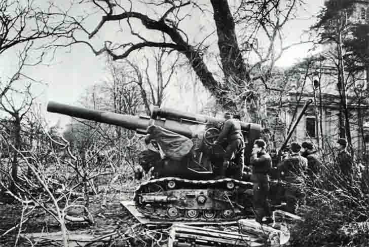 B4 howitzer in the Battle of Danzig