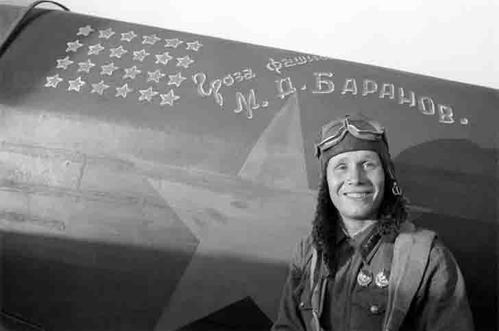 Soviet pilot ace Mikhail Baranov at Stalingrad