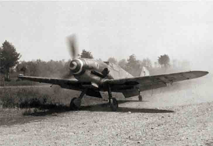 German Messerschmitt Bf.109G of the Italian Air Force