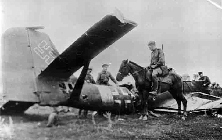 Soviet cavalry and shot down a Junkers Ju-87 dive-bomber