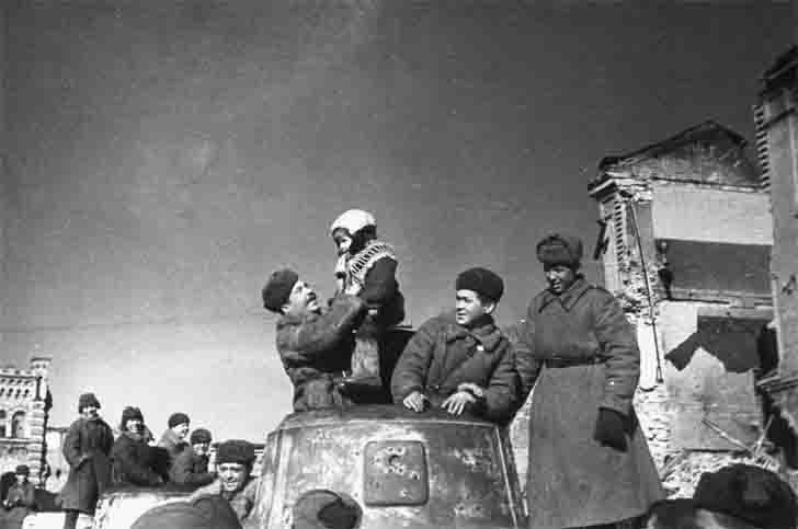 The liberation of Vyazma from the Red Army