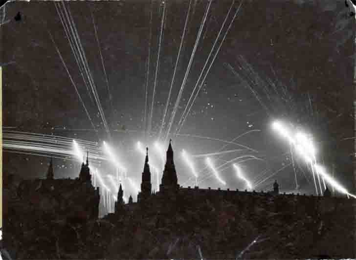 Air raid to Moscow in the night July 26, 1941
