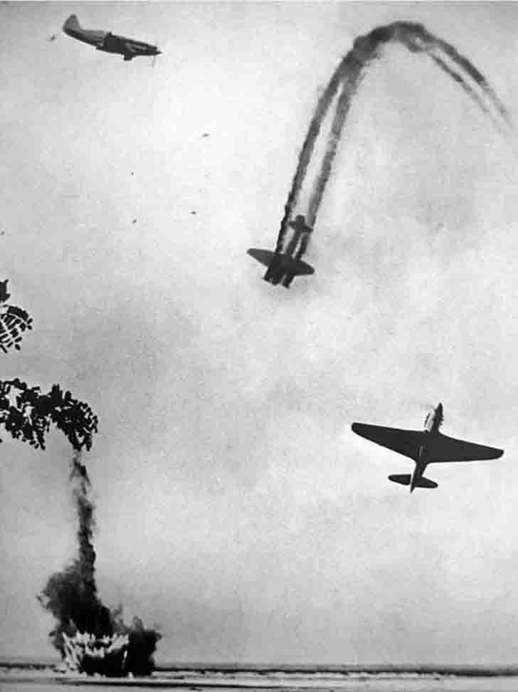 The air battle in the Kuban