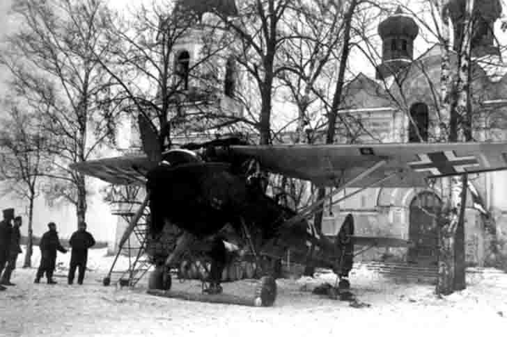 German Henschel Hs.126 reconnaissance plane