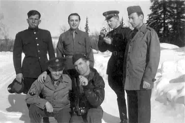 Soviet and American pilots together