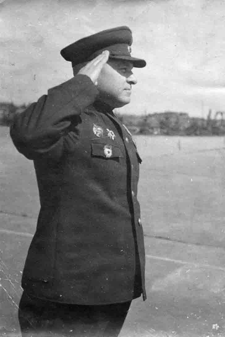 V.F. Zakharov - The commander of the Soviet 2nd Guards Rifle Division
