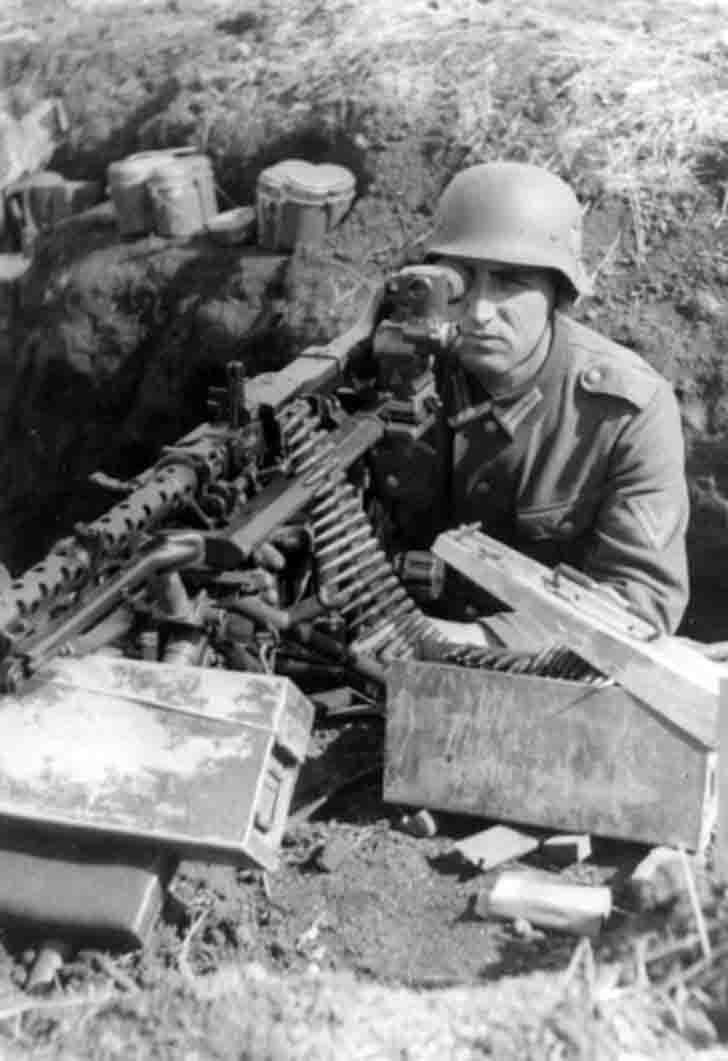 German MG-34 heavy machine gun with optical sight