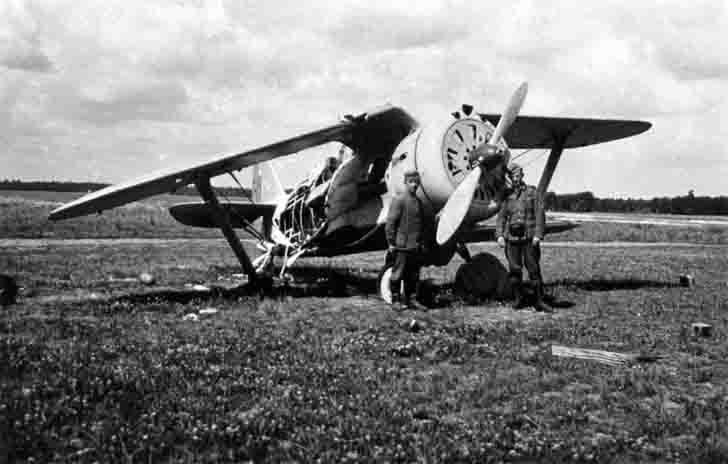 "Captured I-153 ""Chaika"" fighter biplane"