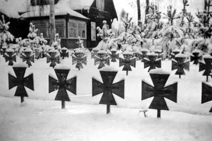 The graves of the German soldiers