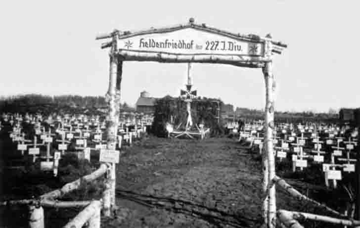 Cemetery of German soldiers from the 227th Infantry Division