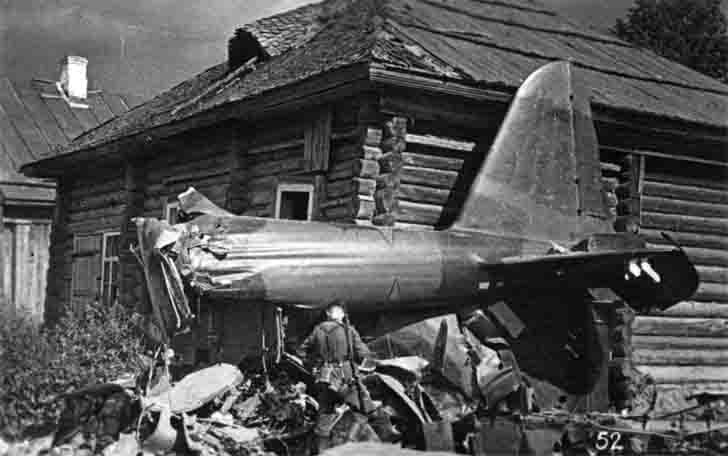 The wreckage of the Soviet Il-2 Sturmovik about Village House