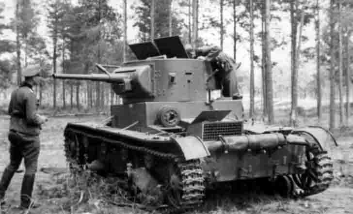 Abandoned T-26 light tank