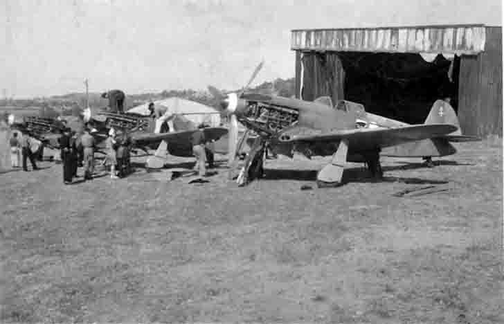 Yak-3 fighter of the Normandie-Niemen regiment in France