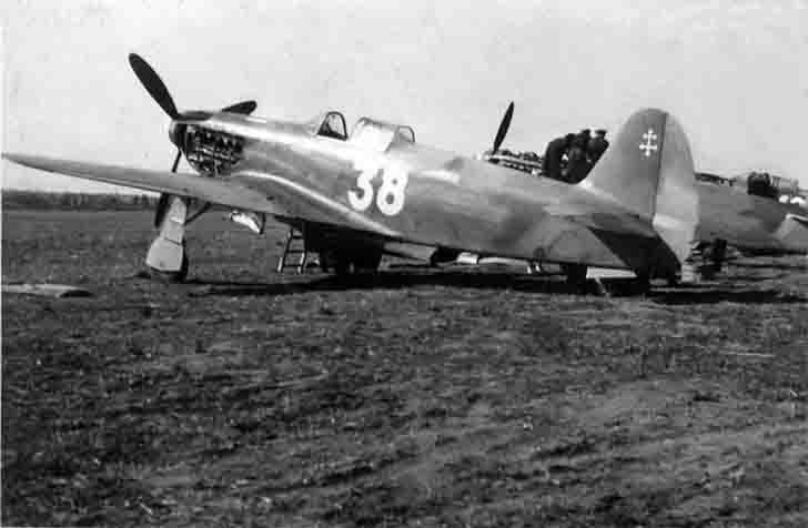 Yak-3 fighter of the Normandie-Niemen regiment after the victory over Germany