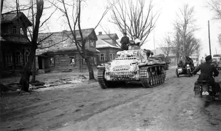The commander tank on Pz.III Ausf. H chassis in the USSR