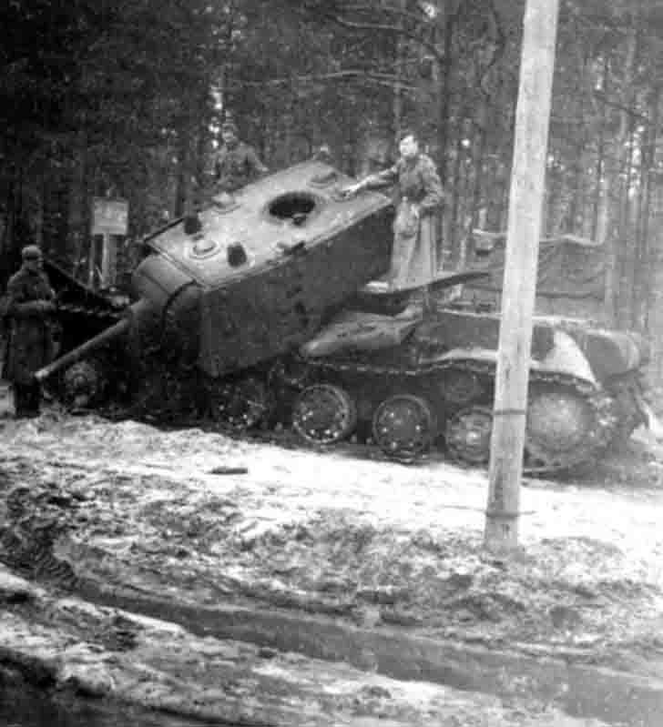 Exploded KV-1E Heavy Tank