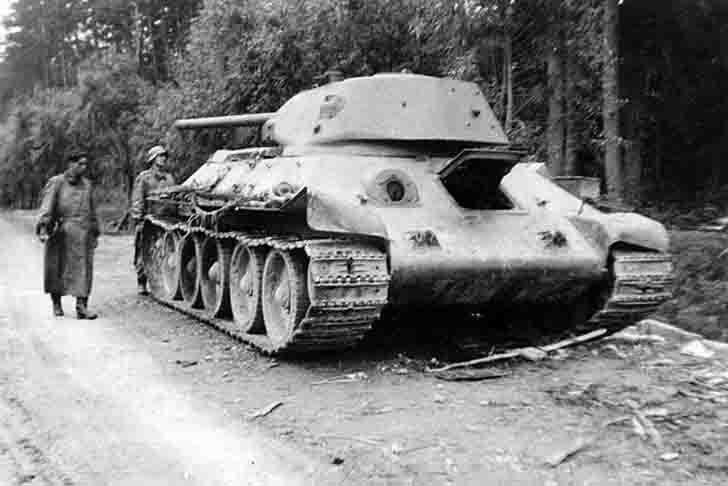 Abandoned T-34 medium tank