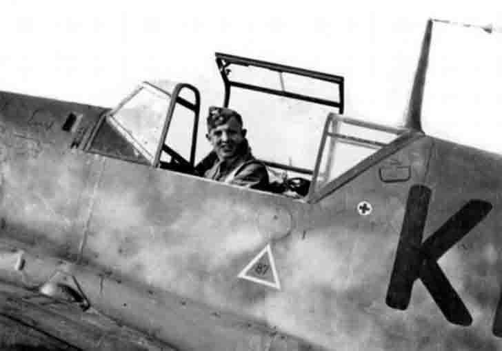 The pilot of the Messerschmitt Bf.109E3