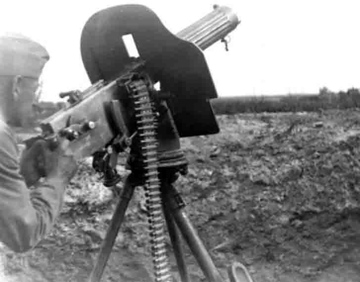 "Captured Soviet ""Maxim"" anti-aircraft machine gun"