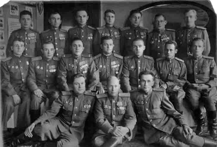 Soviet officers of the Taman Division