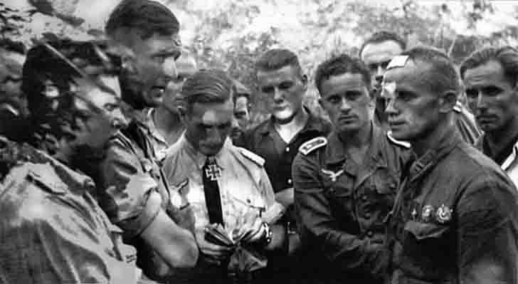 Hero of Soviet Union Yakov Antonov in German captivity