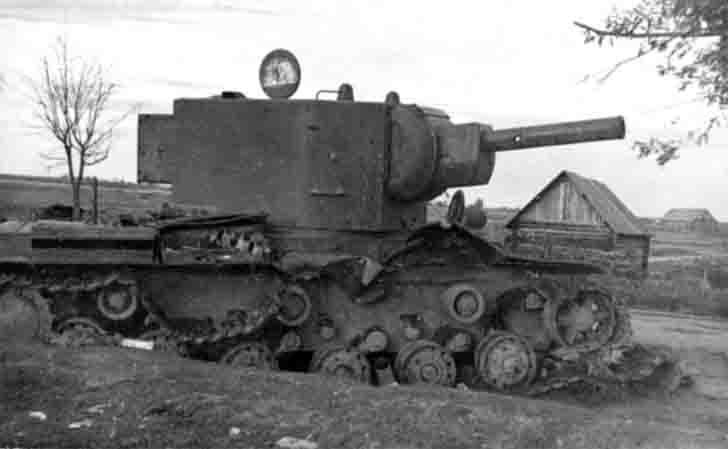 Destroyed KV-2 heavy tank