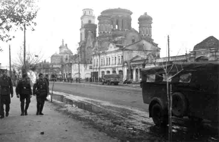 Nazi-occupied Oryol, historic city center