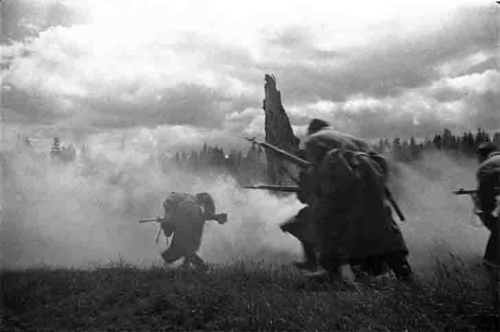 Soviet infantry attack
