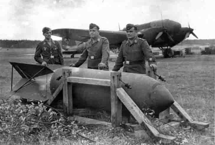 SC 1800 'Satan' bomb for the Heinkel He-111H5 bomber