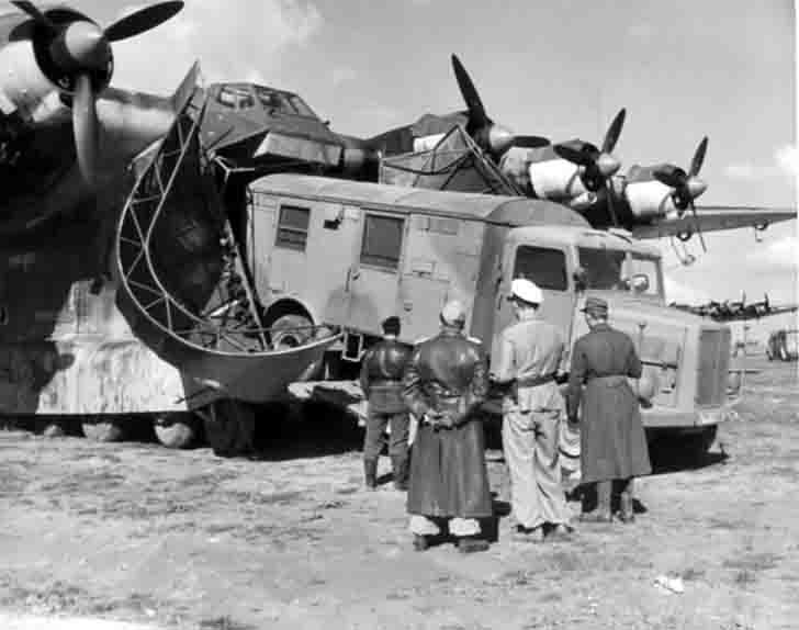Unloading of the Messerschmitt Me.323 «Giant» Transport Aircraft