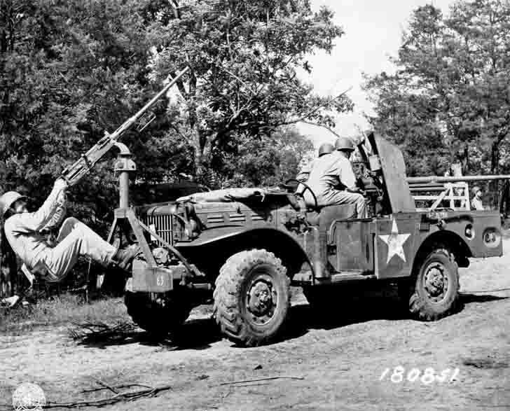 37mm GMC M6 «Fargo» on the chassis of the Dodge WC-55