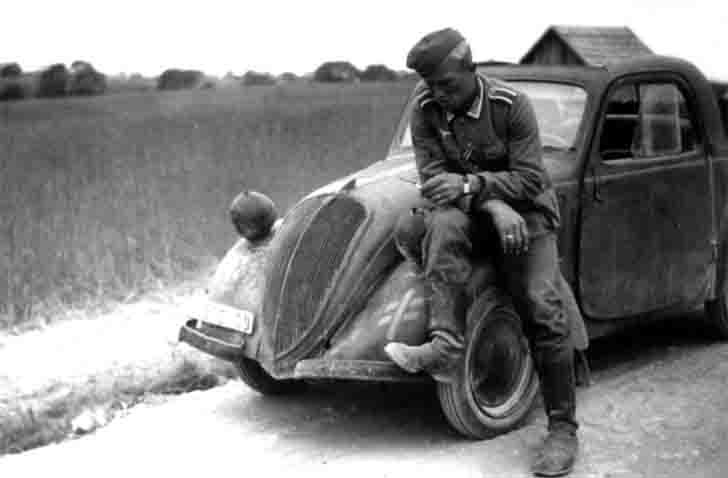FIAT 500 passenger car of the Wehrmacht