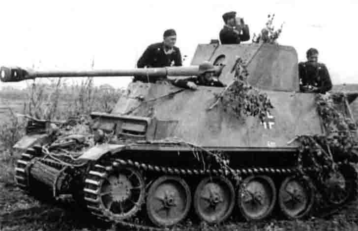 Marder II tank destroyer with captured Soviet gun