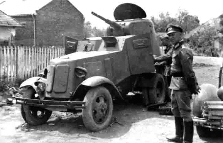 Captured Soviet armored car BA-10