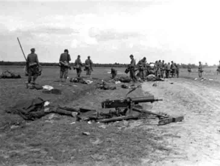 German soldiers after the battle against the Polish Army