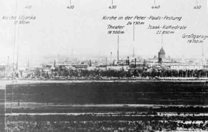 Leningrad through the German artillery sight