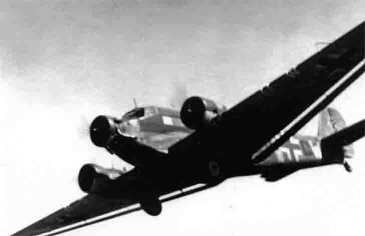 Junkers Ju-52 transport plane in flight