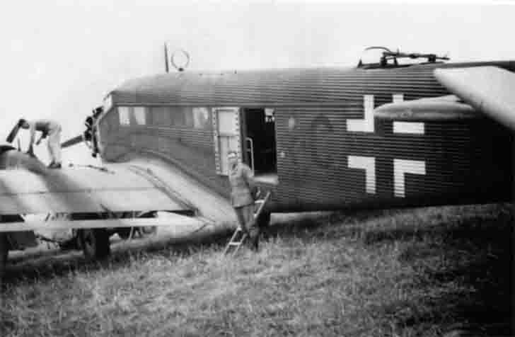 Junkers Ju-52 transport aircraft at the airport